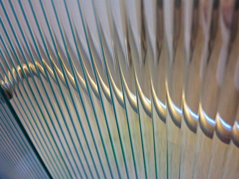 Through reeded glass by David Abercrombie